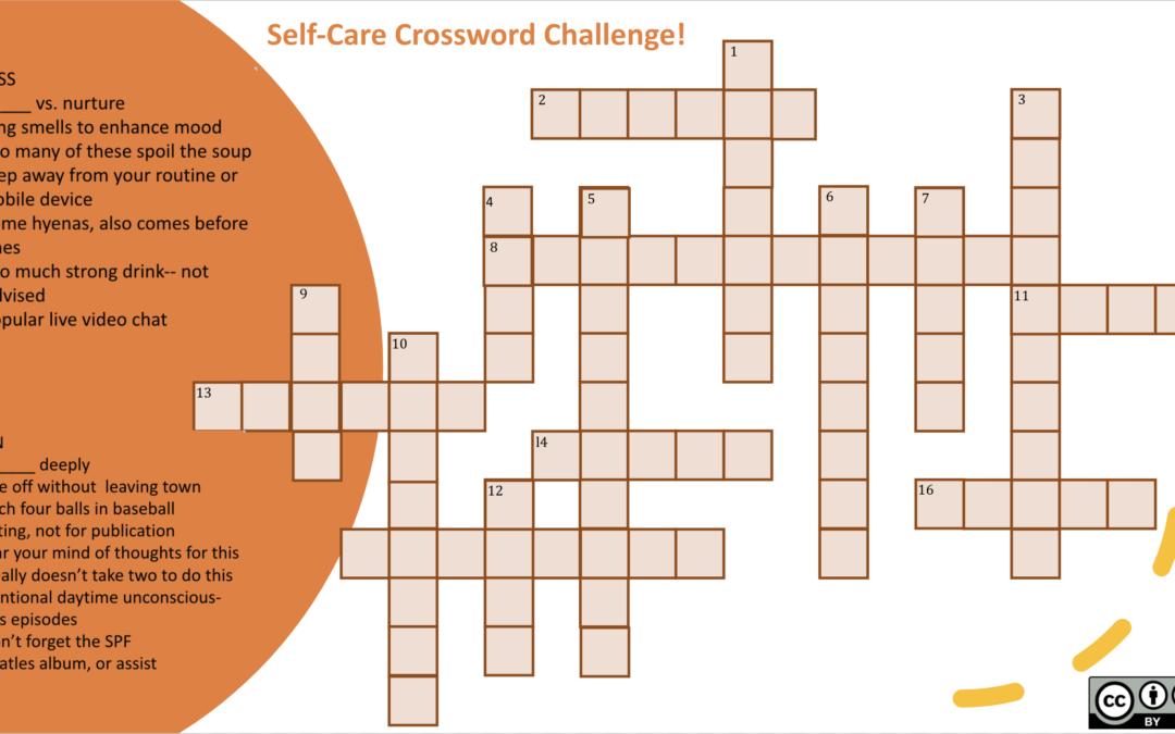 Self-Care Crossword Challenge