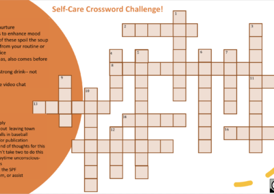 Self-Care Crossword Challenge